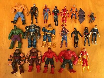 "Marvel Universe 3.75"" Lot of 19 Action Figures Loose Thanos Hulk Spider-man +"