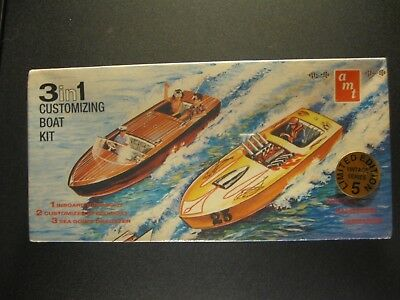 AMT 3 in 1 customizing boat kit #8125 model kit unbuilt 1:25