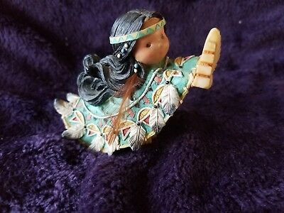 "Retired 1996 Enesco ""one Who Lifts Spirits"" Friends Of The Feather Figurine"
