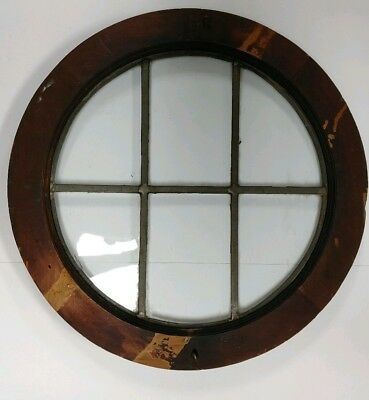 """Antique Round Window In Very Good Condition For Its Age Nautical Window 22"""""""