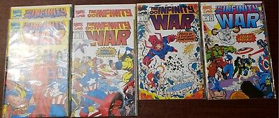 *** The Infinity WAR 1-4 6 issues (NM+ 9.6) THANOS Avengers 4 coming! ***