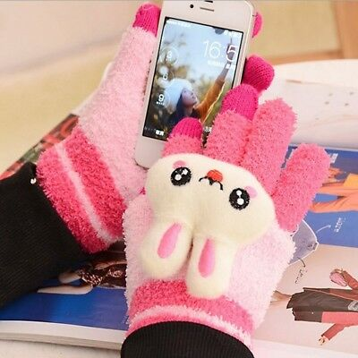 Touch Screen Soft Warm Gloves Unisex Winter Wear Gloves Wool Blend Xmas Gifts