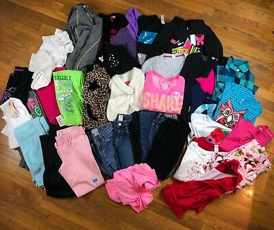 41 item Lot Girls Clothes size 7/8-Gymboree, Oshkosh, Justice, Gap, some NWT.