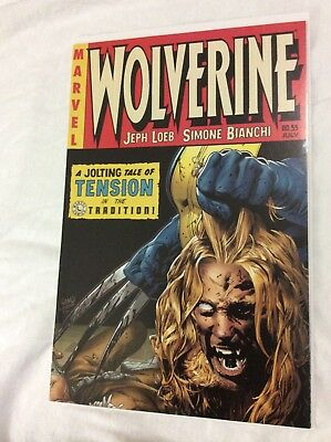 Wolverine #55 EC Horror Homage Death Of Sabertooth Decapitation Land Variant