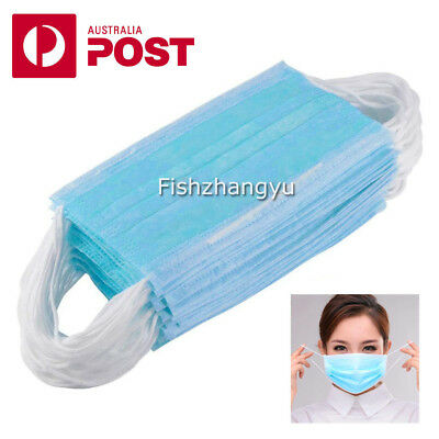Disposable Medical Mouth Face Mask EAR LOOP Clinic DENTAL SURGICAL FLU SAFE AU