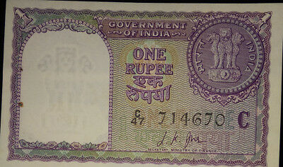 1 Rupee Note 1957 Sign By L K Jha , Only One  Note Will Be Given Unc, Stock Pick