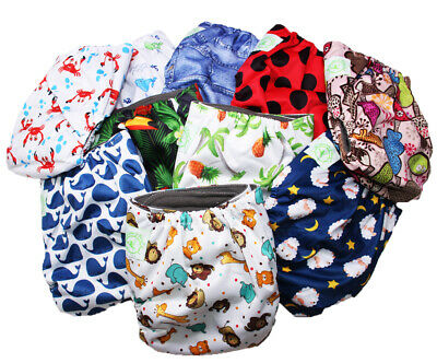 Bamboo Re-Usable Cloth Nappies 4 layer inserts Eco Friendly Organic Fun Designs