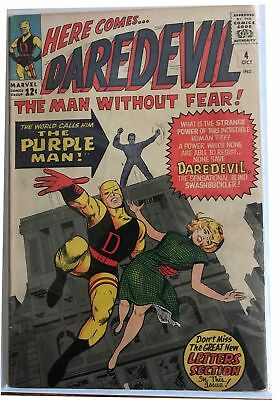 DAREDEVIL #4 (Marvel 1964) 1st Appearance of Killgrave the Purple Man