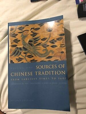 Sources of Chinese Tradition Vol. 1 :From Earliest times to 1600. Second Edition