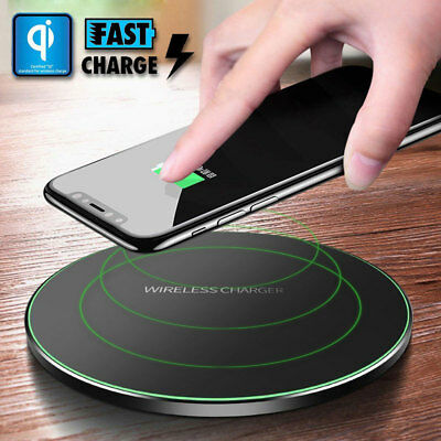 Qi Wireless Fast Charger Charging Pad Dock For Samsung Note 9 S9 iPhone XS MAX 8