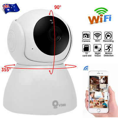 WiFi Wireless 1080P Home IP Camera HD Night Vision System Security Network AU