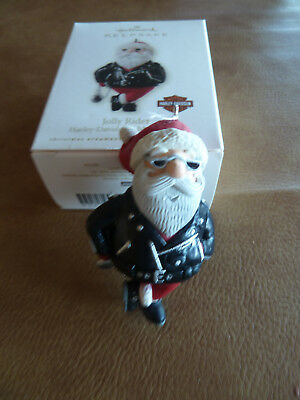 Hallmark Keepsake Jolly Rider Harley Davidson Christmas Tree Ornament