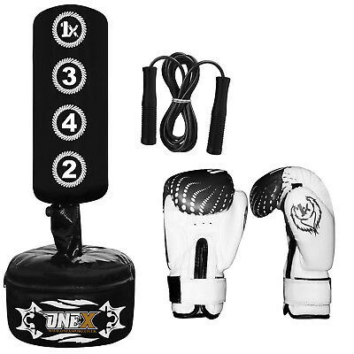 Kids/Junior Boxing FREE STANDING Punch bag Set Freestanding Boxing Bag.