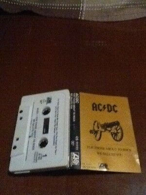 ac/dc for those about to rock we salute you cassette 1981 atlantic records