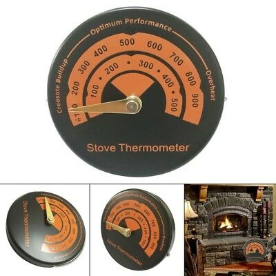 Stove Flue Thermometer Gauge Quick Reading Aluminum Alloy For Wood Log Burners