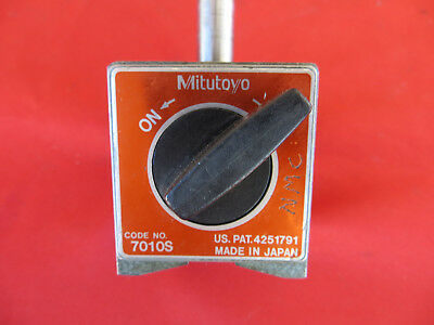 MITUTOYO Magnetic Base Stand for Dial Indicators #7010S Machinist Tool n187