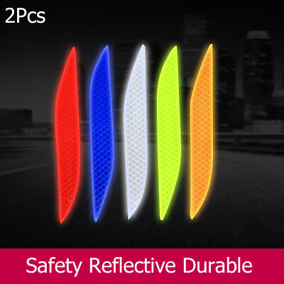 Decal Safety Reflector  Car Reflective Strip Wheel Bumper Warning Stickers