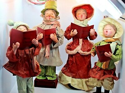 Vintage Set Of Christmas Carolers-Sweet Family Of 4-Victorian Style