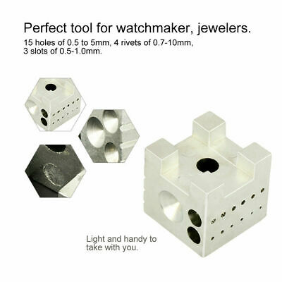 Watch Repair Tool Watchmaker Tools Dapping Carbon Steel Block Riveting Stakes