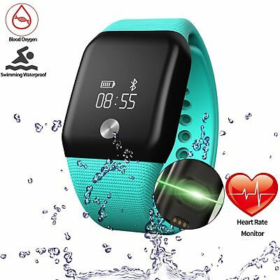 Getfitsoo Fitness Tracker Watch, Swimming Waterproof Fitness Tracker with Hea...