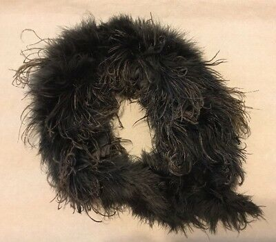 """Antique Mourning OSTRICH COLLAR 30""""s"""
