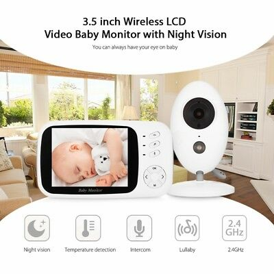 "Two-Way Talk 3.5"" LCD Digital Wireless Baby Monitor Night Vision Video Audio Cam"