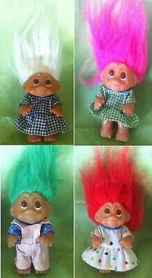Dam Rare Troll Dolls set of 4 Little Kids Toddlers Tot Very Collectable