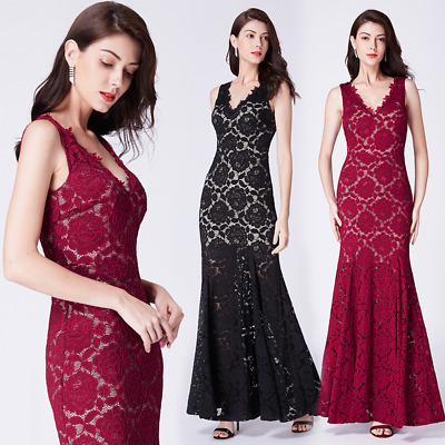 bb4af6a030 Ever-pretty Long Women Bodycon Formal Evening Prom Gowns Cocktail Party  Dresses