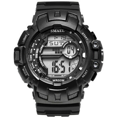 SMAEL Military Watch Waterproof 50M S Shock Movement Sports Digital Men Watches