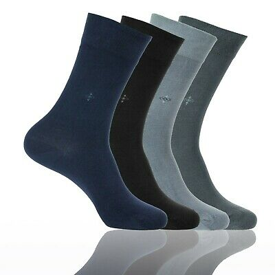 Mens BAMBOO SOCKS -Natural Antibacterial Scented Seamless Soft Touch Dress Socks
