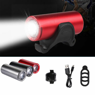 Bicycle Mountain Bike Front Light LED USB Headlight Lamp Torch Rechargeable AU