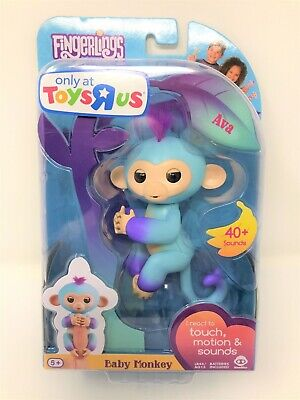 Ava Fingerlings Wow Wee Brand Two-Tone Baby Monkey Toys R Us Exclusive