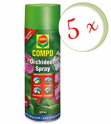 Sparset: 5 x COMPO Orchideen-Spray, 300 ml