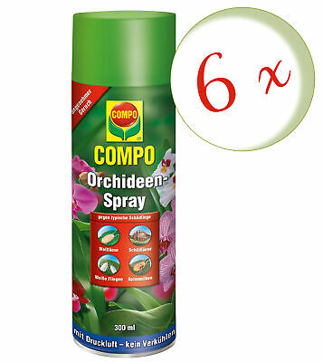Sparset: 6 x COMPO Orchideen-Spray, 300 ml