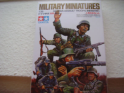 Tamiya Modellbausatz Militär Figuren German Assault Infantry Troops 1:35 Neu