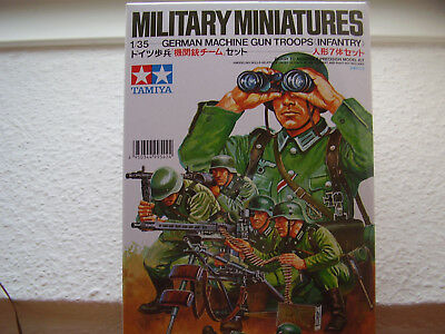 Tamiya Modellbausatz Militär Figuren German Machine Gun Troops 1:35 Neu