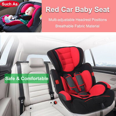 Red Forward Facing Kid Baby Child Safety Car Seat & Booster For 9mon-12years US