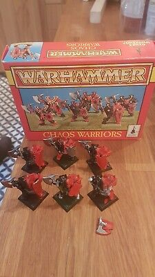 6 Chaos Warrior IN BOX - Warhammer Fantasy Games Workshop Oldhammer