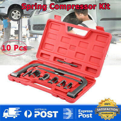 "10x Valve Spring Compressor ""C"" Clamp Tool Kit for Car Motorcycle Petrol Engines"