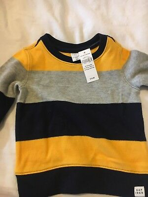 Gap Boys  12-18 Month Top Striped Bnwt