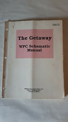 WPC Schematic Manual Flipper Williams The Getaway Highspeed 2 Anleitung
