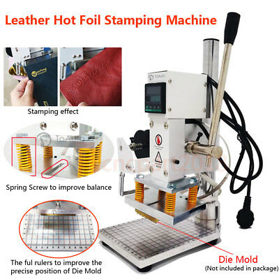 Digital Display Hot Foil Leather Stamping Embossing Machine Manual Logo Marking