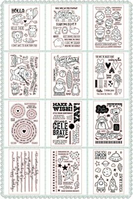 Celebrate Design Stamp Silicone Seal Stencil Handcraft Scrapbook Album Embossing