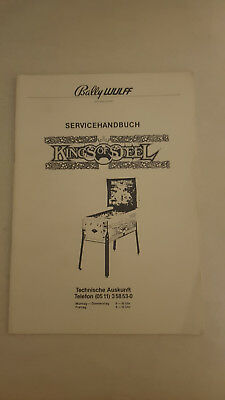 Service Handbuch deutsch Bedienungsanleitung Kings of Steel Flipper Bally