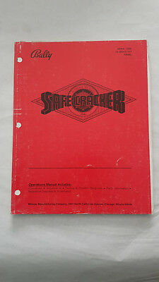 Bedienungsanleitung Safe Cracker Flipper Bally Manual Handbuch