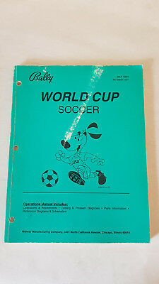 Bedienungsanleitung World Cup Soccer 94 Flipper Bally Manual Handbuch