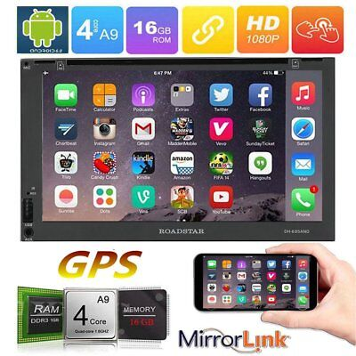 "Smart 7"" Android 6.0 Double 2DIN Car Radio Stereo DVD Player WiFi GPS Bluetooth"