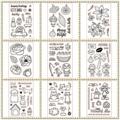 Xmas Transparent Stamp Seal Stencil Handcrafts Stencil Photo Album Embossing DIY