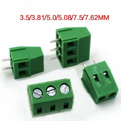 PCB Screw Terminal Block 2/3 Pole KF128 3.5/3.81/5.0/5.08/7.5/7.62mm 300V 10A