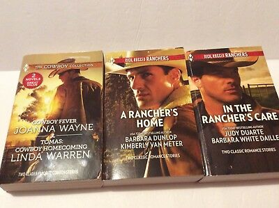 Lot of 3 Harlequin Books Cowboy Collection / Rich Rugged Ranchers (6 stories)